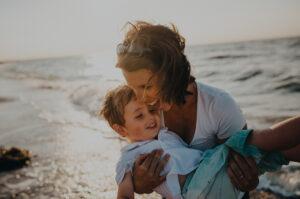 Mãe com o filho